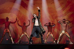 Dan Stevens as Eurovision Contestant Alexander Lemtov