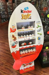 Kinder Egg displays pop up more and more in general grocery stores.